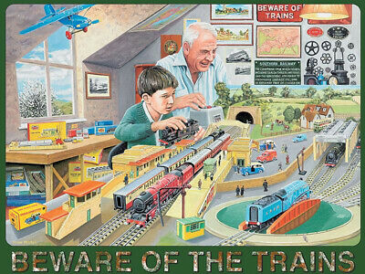 3 sizes - Small // Large and Jumbo Windermere Railway Poster Metal Wall Sign