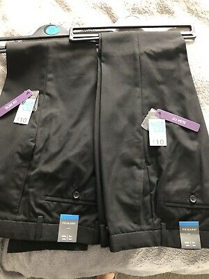 2 X Pairs Of Black Trousers