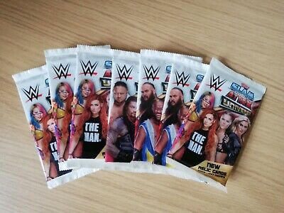 WWE Slam Attax Universe Lot Of 7 Sealed Booster Packs