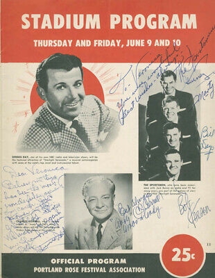 """Charles """"Andy"""" Correll - Inscribed Program Signed Circa 1955 With Co-Signers"""