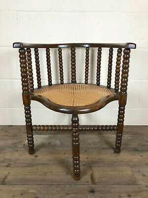 Unusual Victorian Bobbin Turned Corner Chair - Delivery Available
