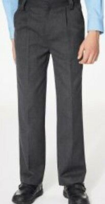 Next Grey Flat Front Trousers Size 14Yrs