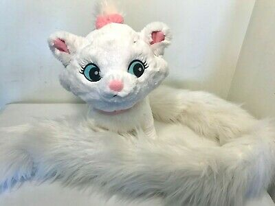 Aristocats MARIE White Kitty Cat Plush Disney Parks Long Fluffy Boa Tail SOFT!