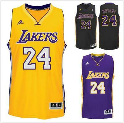Kobe Bryant #24 Los Angeles Lakers  NBA Jersey Shirt Purple Black Yellow