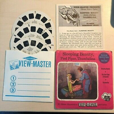 View Master Sleeping Beauty Pied Piper Thumbelina Fairytale USA Märchen
