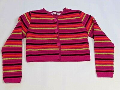 CLAYEUX age 6 years Girls pink knitted cardigan & skirt  funky wool blend ~c357