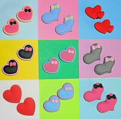 Heart Hearts Shoe Charms Shoe Buttons Plugs Accessories NOT crocs fits any Shoe