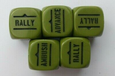 Warlord Games Bolt Action Green Order Dice WWII WW2 US American Allies Set of 5