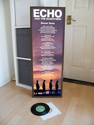 Echo And The Bunnymen Seven Seas Promotional Posters Lyric Sheet,Joy Division