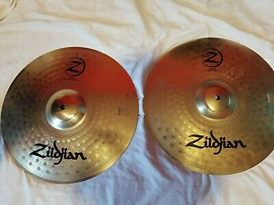 "lot 2 cymbales Zildjian Planet Z 14"" Hi-Hat cymbals"
