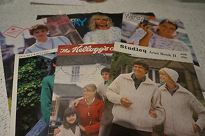 6 x Assorted Knitting patterns Good condition lot no. 28