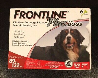 Frontline Plus for Dogs 89-132 lbs, RED, 6 Doses
