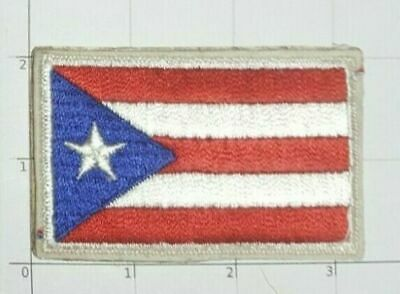 Puerto Rico Flag Patch Self Adhesive or Sew on Embroidered Rich Port Encanto