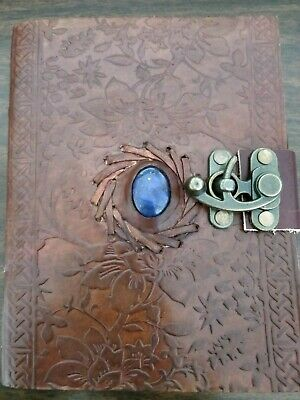 Large Leather Journal HandMade Celtic blue stone Journal Gift for writers