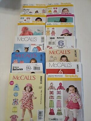 HUGE Lot of 14 Simplicity, McCall's & Butterick Sewing Patterns Uncut For...