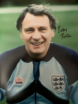 Signed Sir Bobby Robson England Autograph photo Newcastle Fulham Barcelona (2)
