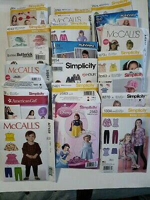 HUGE Lot Of 20 Children's Sewing Patterns,  McCalls, Simplicity & Butterick