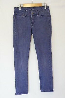 Levis Womens Jean Size 25 X 25 Mid Rise Curve Crop Stretch Purple Skinny Ankle
