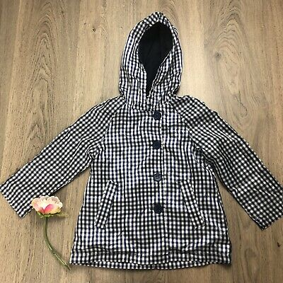 Seed Heritage Sz 3-4 Navy And White Check Hooded Jacket W