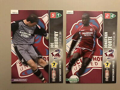 2 Scunthorpe United FC Forte & Murphy 2008 Championship Panini Football Cards