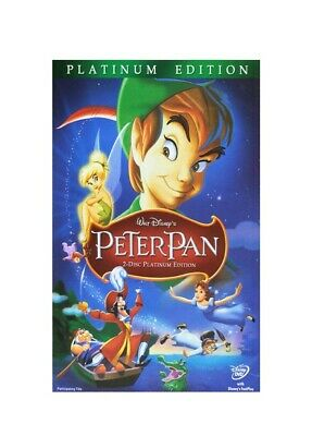 PETER PAN (DVD, 2007, 2-Disc SET, PLATINUM EDITION)  BRAND NEW FACTORY SEALED