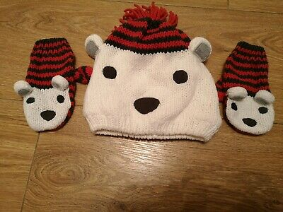 Boys Matching Hat And Mittens Set Age 2-3 Years