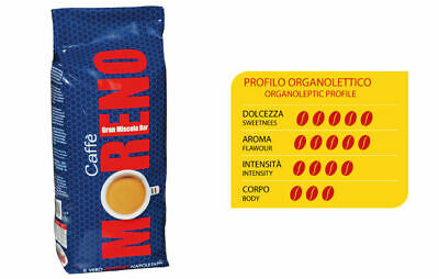 12 kg Coffee Blend Moreno in Roasted Grains Professional Roasted Product Italy