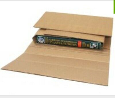 NEW Book Mailers: 23 sturdy twist & wrap cardboard book mailers boxes 28x25x3cm