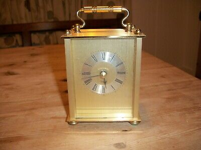Brass Carriage Clock New and Boxed Battery Mechanism Dimensions 11 x 8.5 x 5.5cm