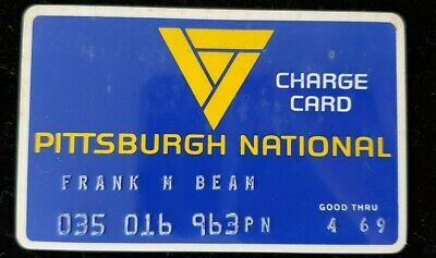 Pittsburgh National Charge Card exp 69♡Free Shipping♡cc174
