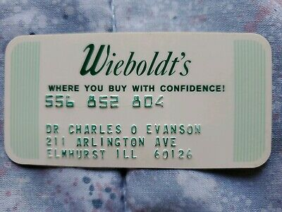 Wieboldt's Charge Card♡Free Shipping♡cc275♡ Princess Size