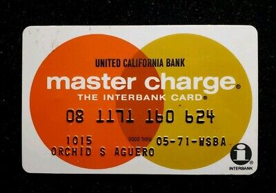 United California Bank MasterCard exp 71 ♡Free Shipping♡cc246♡