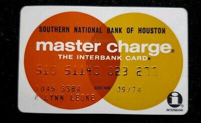 Southern National Bank of Houston MasterCard exp 74 ♡Free Shipping♡cc245♡