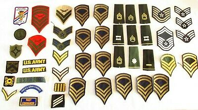 Lot Of 50 U.s.  Military Patches Badges