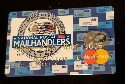 National Postal Mailhandlers MasterCard Credit Card exp 98♡Free Shipping♡cc124