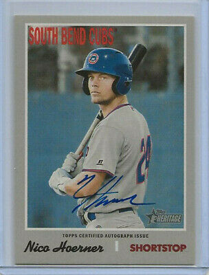 2019 Topps Heritage Minor League Nico Hoerner Real One Auto Cubs Autograph
