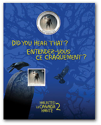 2015 Haunted Canada Series Brakeman Lenticular 3D 25 cent Coin Stamp Gift set