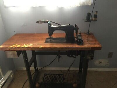 1930's-1940's Singer Electric Industrial Sewing Machine
