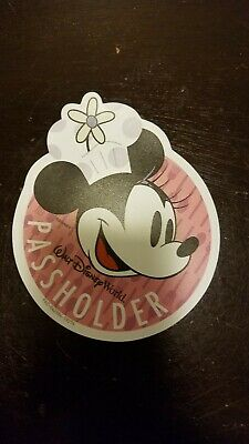Walt Disney World Annual Passholder Minnie Mouse MAGNET 2019 Food Wine Festival