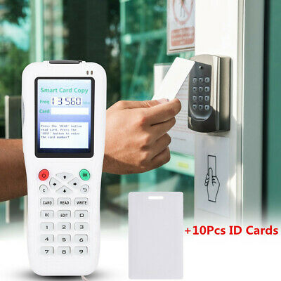 Handheld Digital RFID IC Card Copier Writer Duplicator Programmer +10 ID Cards