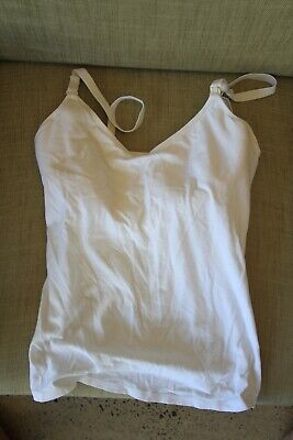 Bonds bumps hidden support maternity nursing breastfeeding singlet white 14DD