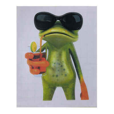 Cute Frog Car Styling home Wall Funny Sticker Removable Decal Vinyl Art YLW#6