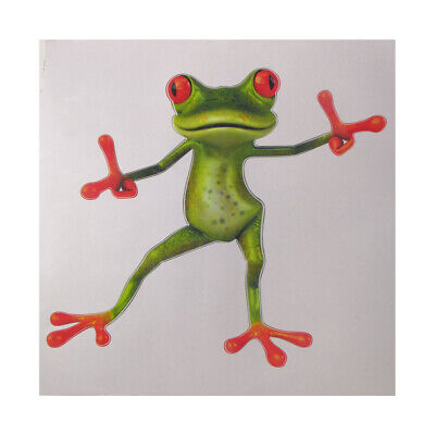 DIY 3D Stereo Cute Green Frog Funny Car Toilet Decal Room Wall Sticker Art JDS#1