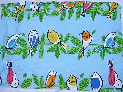 The Company Store Twin Sheets Colorful Song Birds 4 Pc Set Blue Green Yellow