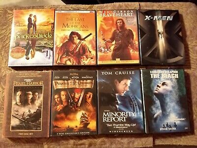 Lot Of Eight DVD's Major Titles. Excellent Condition Free Shipping