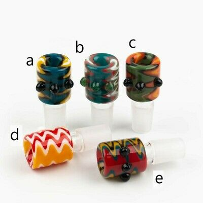 14mm Male Wig Wag Bubble Glass Slide Bowl