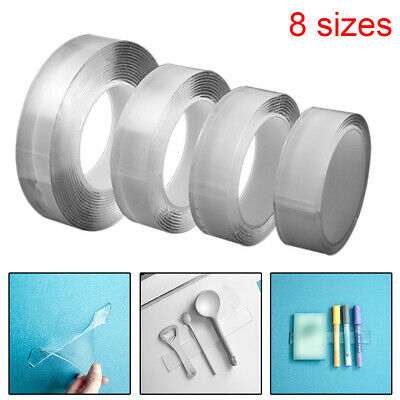 Reusable Magic Nano Tape Double Sided Traceless Adhesive Clear Tape Removable 66
