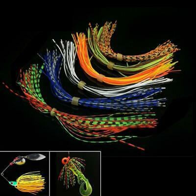 40//200//400Pcs Fishing Skirts Silicone Rubber Jig Squid Lure Spinner Baits Thread