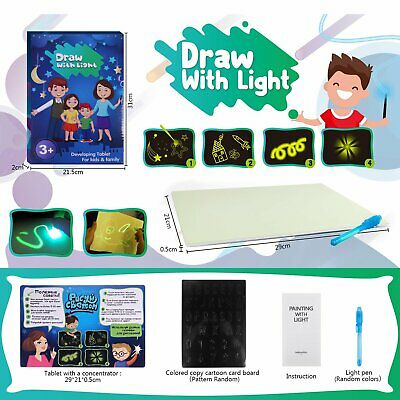 Educational 3D Drawing Board Draw With Light Fun And Developing Toy Magic Draw