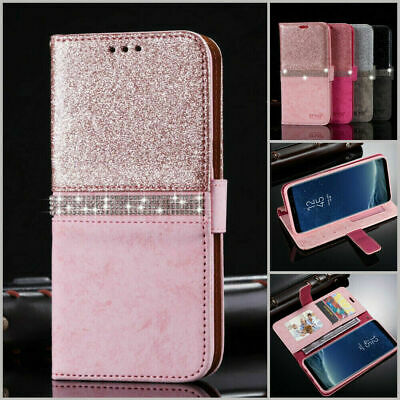 For Samsung Galaxy S8 S9 S10 A20e A50 A70 Glitter Leather Flip Case Wallet Cover